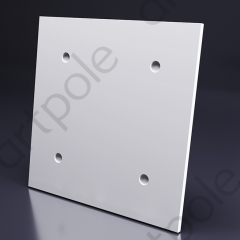 Гипсовая 3D панель LOFT ORIGINAL (HIDDEN - крепления скрытого типа) 600x600x16 мм