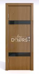 ШИ дверь DO-602 Анегри темный/стекло Черное