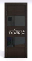 Дверь межкомнатная DO-508 Венге горизонтальный/стекло Черное