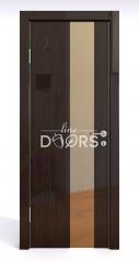 Дверь межкомнатная DO-504 Венге глянец/зеркало Бронза