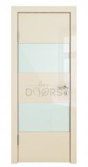 Дверь межкомнатная DO-508 Ваниль глянец/стекло Белое