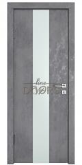 ШИ дверь DO-610 Бетон темный/Снег