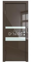 Дверь межкомнатная DO-512 Шоколад глянец/стекло Белое