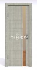 Дверь межкомнатная DO-507 Серый дуб/зеркало Бронза
