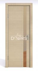 Дверь межкомнатная DO-507 Неаполь/зеркало Бронза