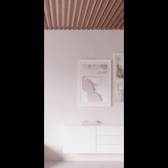 Декоративная рейка на потолок Шебби