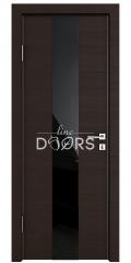 Дверь межкомнатная DO-510 Венге горизонтальный/стекло Черное