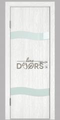 Дверь межкомнатная DO-503 Белый глубокий/стекло Белое