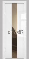 ШИ дверь DO-610 Белый глянец/зеркало Бронза