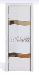 Дверь межкомнатная DO-503 Белый глянец/зеркало Бронза