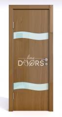 Дверь межкомнатная DO-503 Анегри темный/стекло Белое