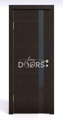 Дверь межкомнатная DO-507 Венге горизонтальный/стекло Черное