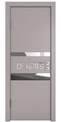 ШИ дверь DO-612 Серый бархат/Зеркало
