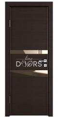 Дверь межкомнатная DO-512 Венге горизонтальный/зеркало Бронза