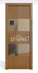 Дверь межкомнатная DO-508 Анегри темный/зеркало Бронза