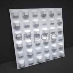 Гипсовая 3D панель Chaos 600x600x40 мм