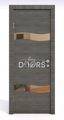 ШИ дверь DO-603 Ольха темная/зеркало Бронза