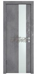Дверь межкомнатная DO-504 Бетон темный/Снег