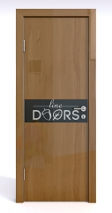 Дверь межкомнатная DO-509 Анегри темный/стекло Черное