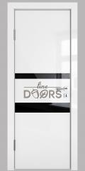 Дверь межкомнатная DO-512 Белый глянец/стекло Черное