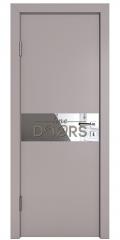 Дверь межкомнатная DO-509 Серый бархат/Зеркало