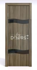 ШИ дверь DO-603 Сосна глянец/стекло Черное