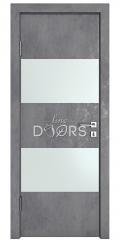 Дверь межкомнатная DO-508 Бетон темный/Снег