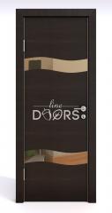 Дверь межкомнатная DO-503 Венге горизонтальный/зеркало Бронза