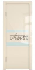 Дверь межкомнатная DO-512 Ваниль глянец/стекло Белое