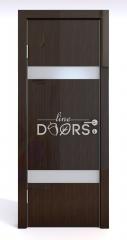 ШИ дверь DO-602 Венге глянец/Снег