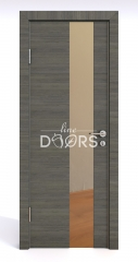 ШИ дверь DO-604 Ольха темная/зеркало Бронза