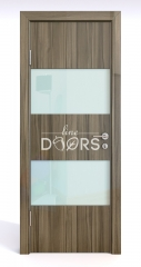 Дверь межкомнатная DO-508 Сосна глянец/стекло Белое