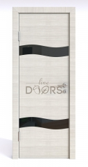 ШИ дверь DO-603 Ива светлая/стекло Черное
