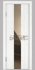 Дверь межкомнатная DO-510 Белый глубокий/зеркало Бронза