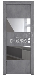 Дверь межкомнатная DO-508 Бетон темный/Зеркало