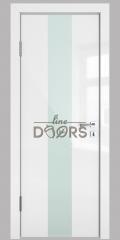 Дверь межкомнатная DO-510 Белый глянец/стекло Белое