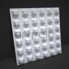 Гипсовая 3D панель Structure 600x600x40 мм