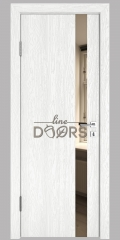 ШИ дверь DO-607 Белый глубокий/зеркало Бронза