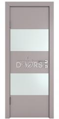 Дверь межкомнатная DO-508 Серый бархат/Снег