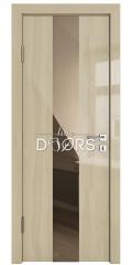 Дверь межкомнатная DO-510 Анегри светлый/зеркало Бронза