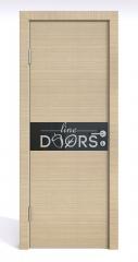 Дверь межкомнатная DO-509 Неаполь/стекло Черное