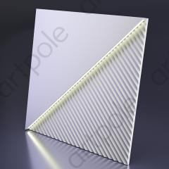 Гипсовая 3D панель FIELDS LED (нейтральный свет) 600x600x33 мм