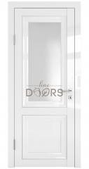 Дверь межкомнатная DO-PG2 Белый глянец/Ромб