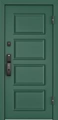Дверь TOREX CYBER ЛКП Зеленый изумруд / ЛКП глубокий чёрный