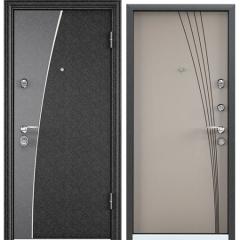 Дверь TOREX SUPER OMEGA 10 MAX Черный шелк / Кремовый ликер RS-12