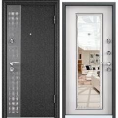Дверь TOREX SUPER OMEGA 10 MAX Черный шелк / Белый с зеркалом