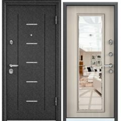 Дверь TOREX SUPER OMEGA 10 Черный шелк RP4 / Белый перламутр с зеркалом