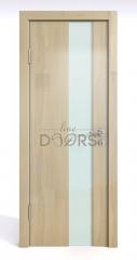 Дверь межкомнатная DO-504 Анегри светлый/стекло Белое