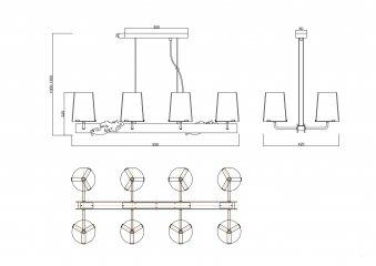 Подвесной светильник Maytoni MOD040PL-08CH