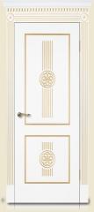 Дверь мебель массив Мадрид 1 Эмаль слоновая кость